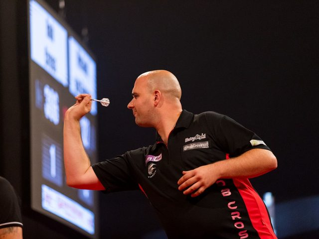 Rob Cross standing as a shining example of darts being an underdog sport